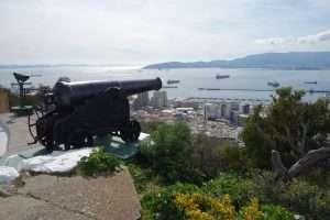 Batteria di cannoni a Gibilterra