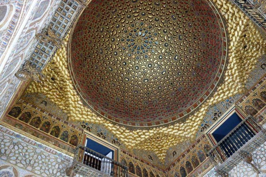 Alcazar di Siviglia cupola dorata