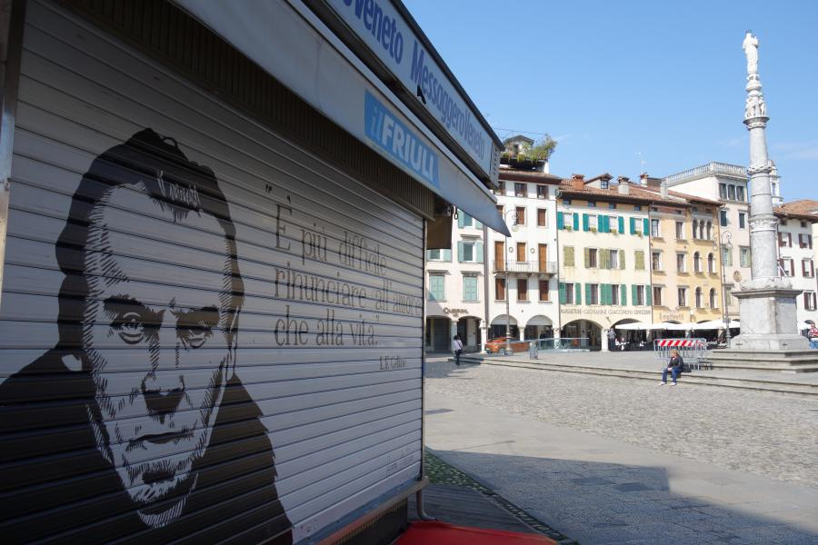 Murales in piazza Matteotti