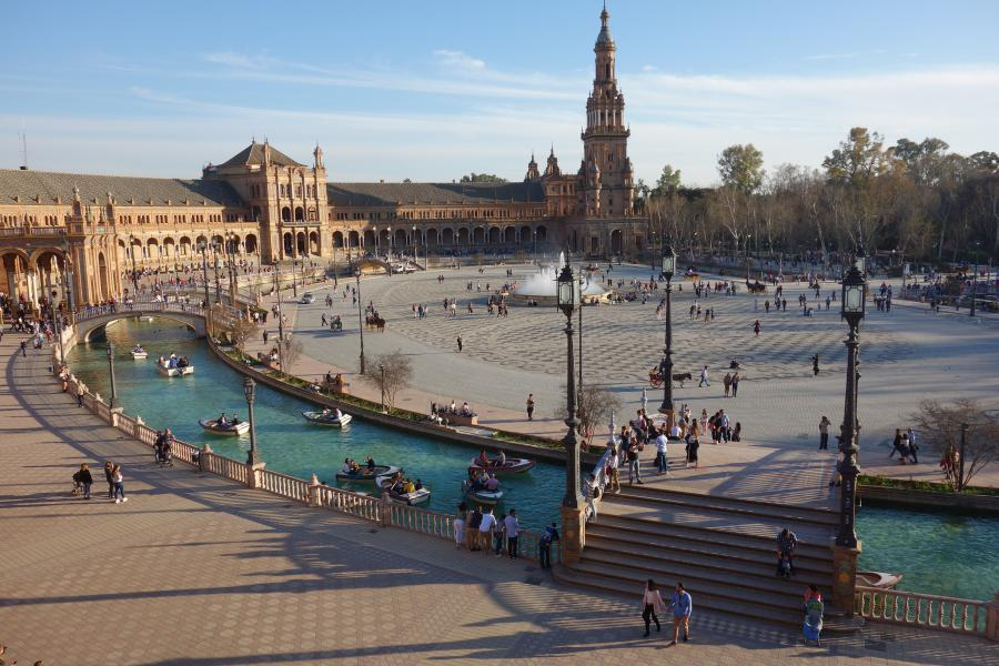 Vista dall'alto di Plaza de Espana
