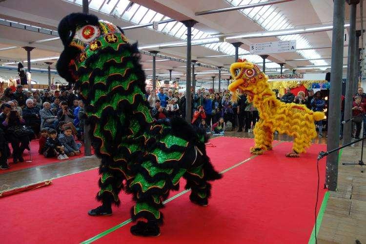 Danza dei leoni al festival di Udine