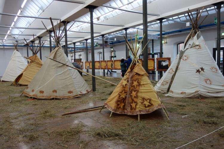 Tende indiane padiglione nativi americani