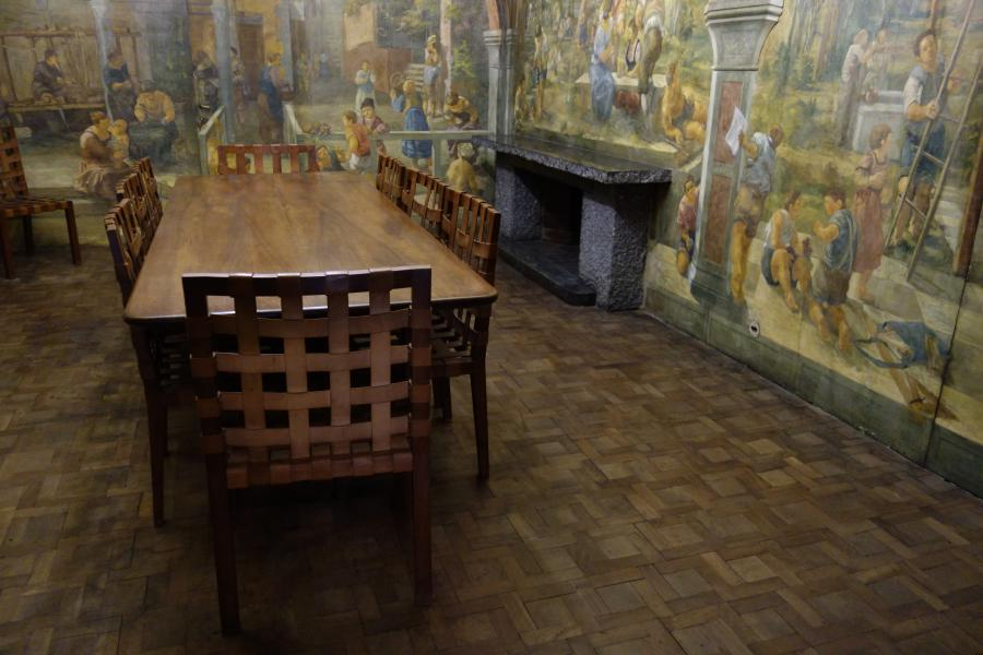Casa Cavazzini sala da pranzo affrescata