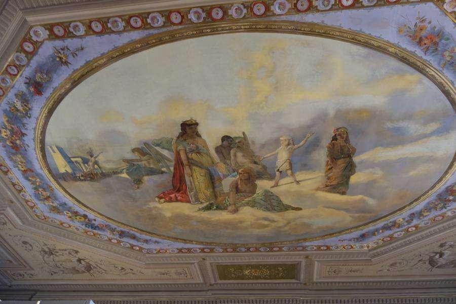 Sala affrescata Museo Etnografico Udine