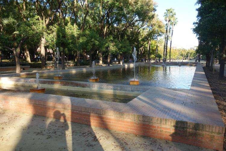 Siviglia Parco Prado de San Sebastian fontane