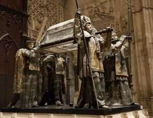 Feretro di Cristoforo Colombo a Siviglia