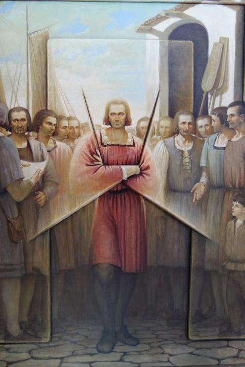 Colombo ritratto alla Rabida a Palos