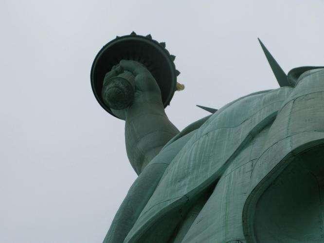 Statua della libertà dettaglio torcia