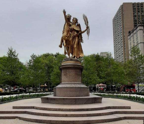 Central park Sherman memorial