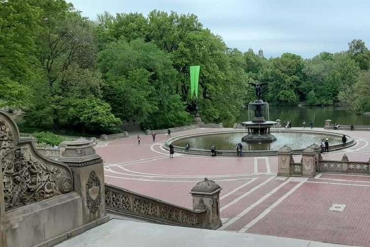 Central park New York fontana Bethesda