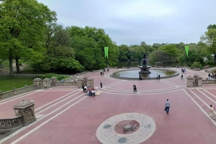 Fontana Bethesda dalla terrazza panoramica