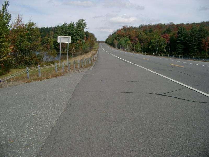 Strada negli Adirondack