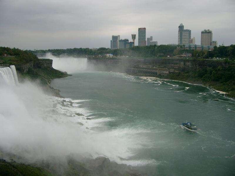 Cascate del Niagara vista sul Canada