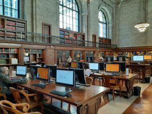 Sala lettura biblioteca di New York