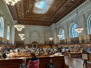 Sala interna della Public Library New York