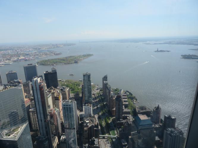 Baia di New York dalla Freedom Tower