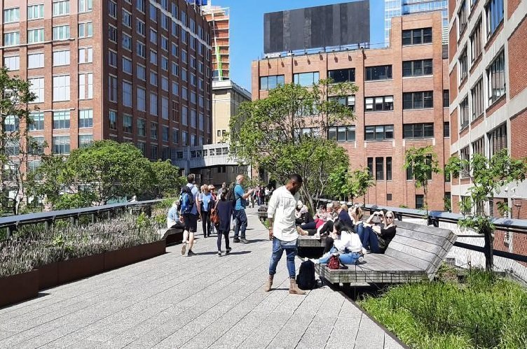 High Line panchine