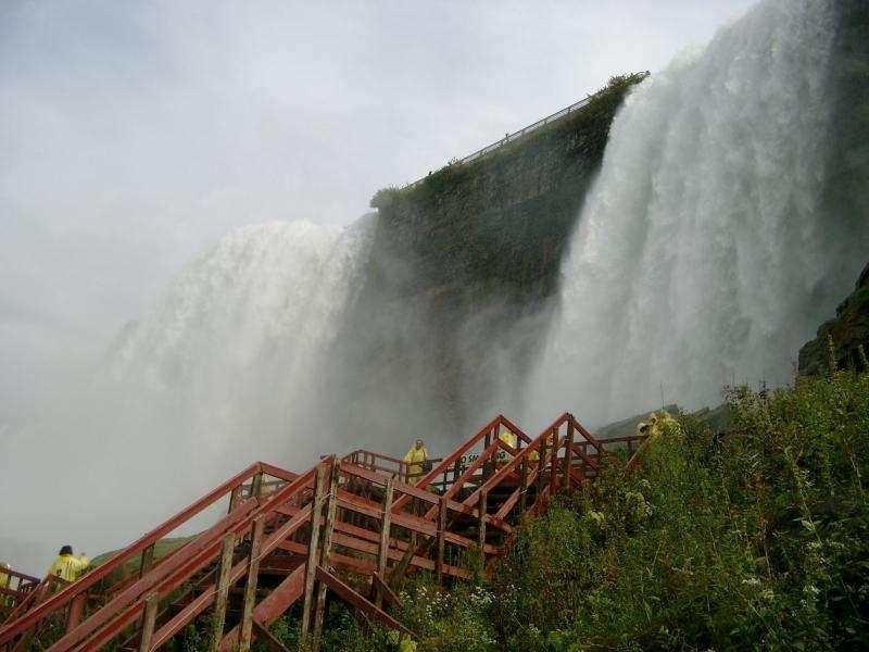 Vista Bridal Veil e American falls Niagara