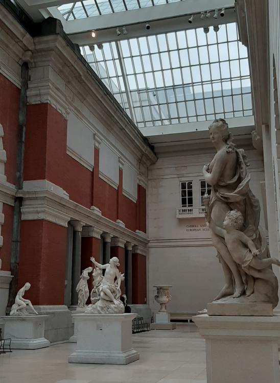 Sala delle sculture del Met