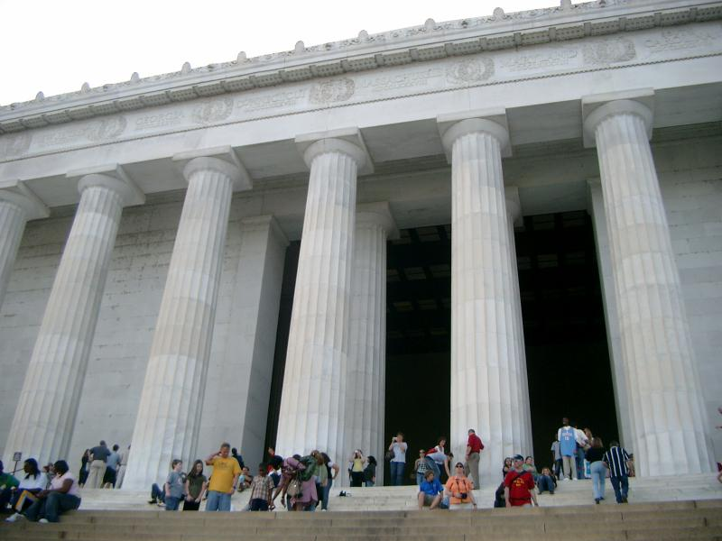 Lincoln Memorial scalinata