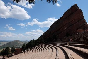 Red Rock Amphitheater gradinate Denver