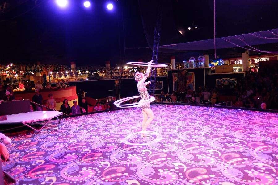 Spettacolo al Circus Circus