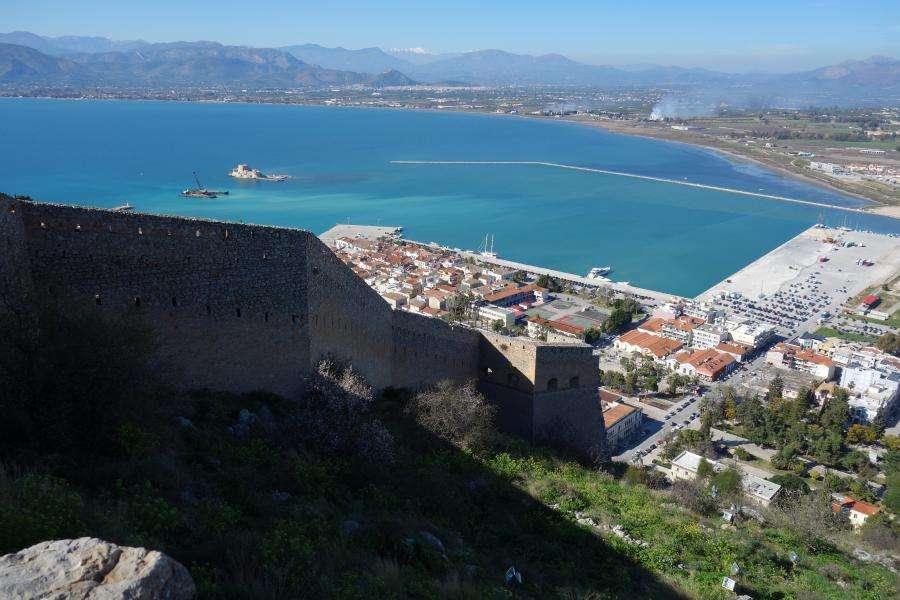Nauplia da fortezza Palamidi