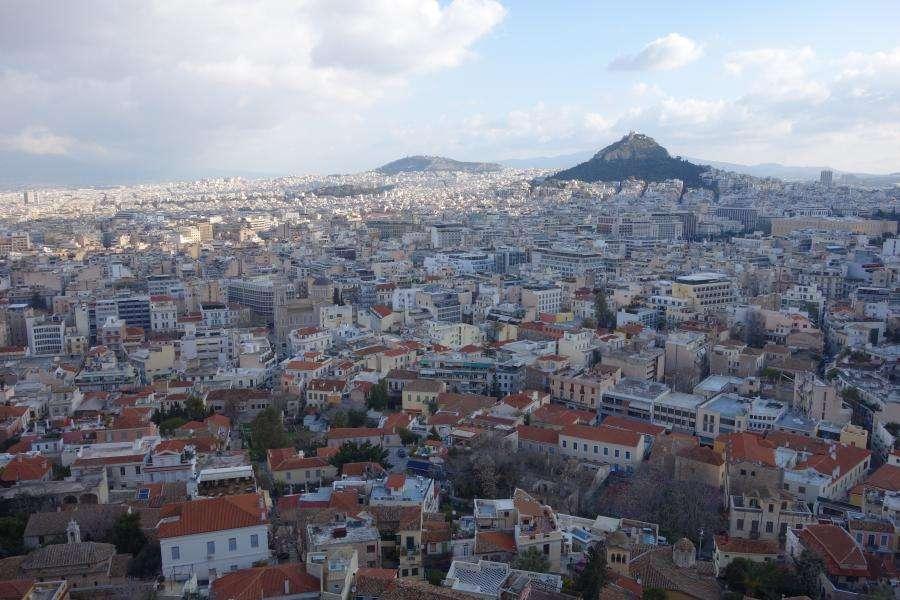 Vista dall'acropoli sul Licabetto