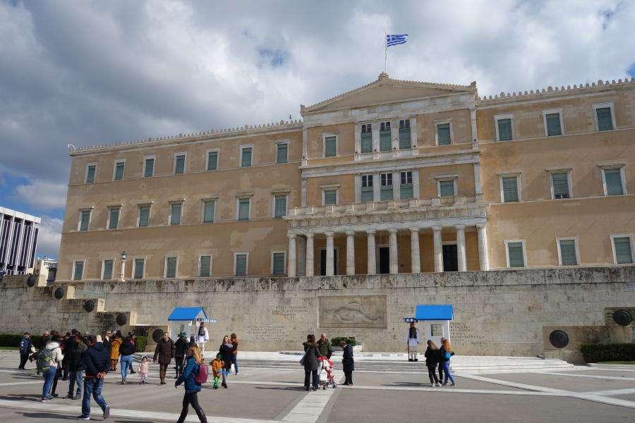 Parlamento in piazza Syntagma