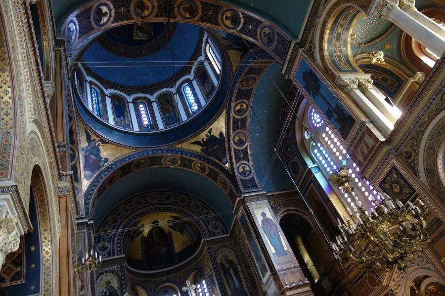 Interno Cattedrale metropolitana di Atene