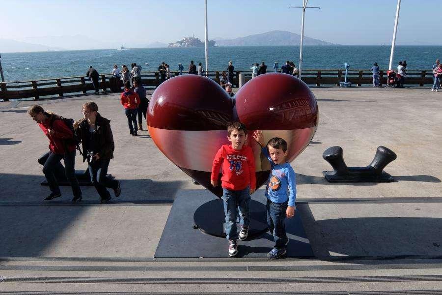 Cuore rosso Pier 39