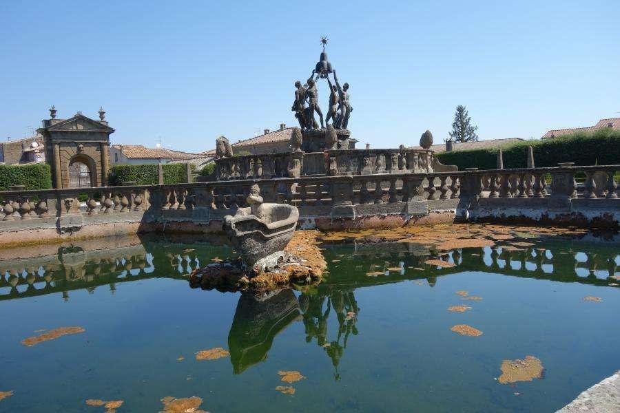 Giochi d'acqua a Villa Lante a Bagnaia