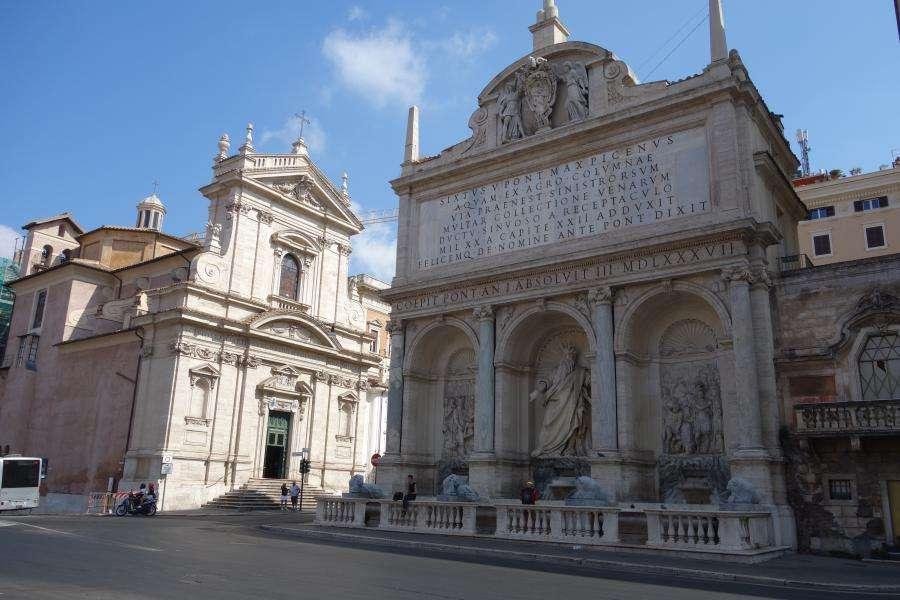 Roma fontana del Mosè