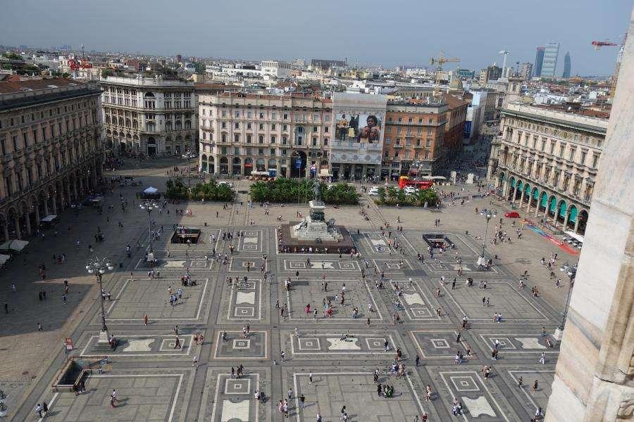 Piazza del Duomo dall'alto