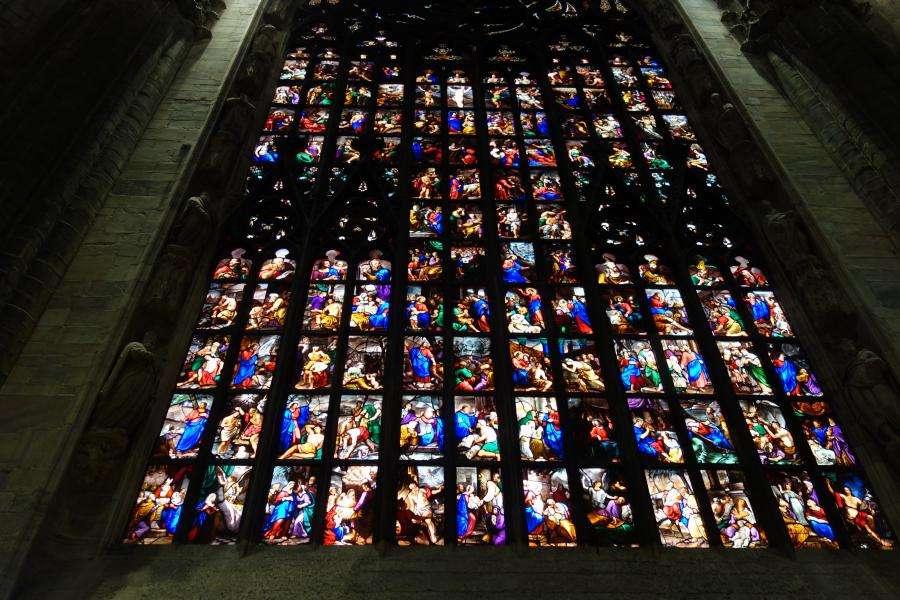 Vetrata dell'abside del duomo di Milano