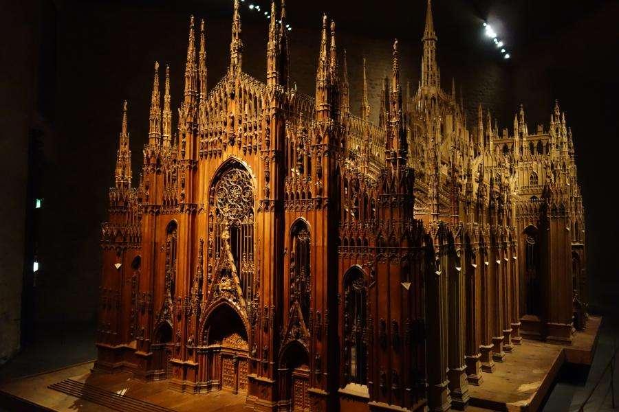 Modellino in legno del duomo di Milano