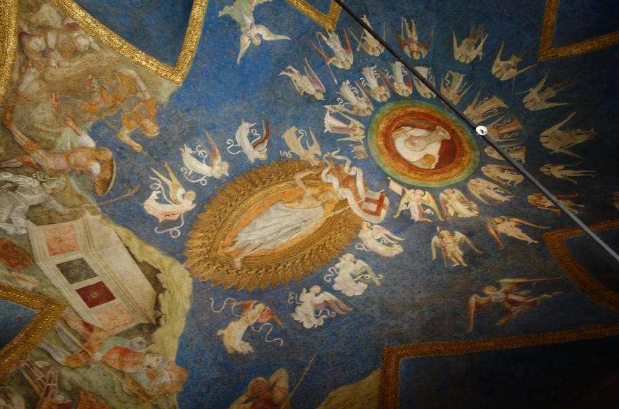 Affresco della Cappella ducale al castello sforzesco
