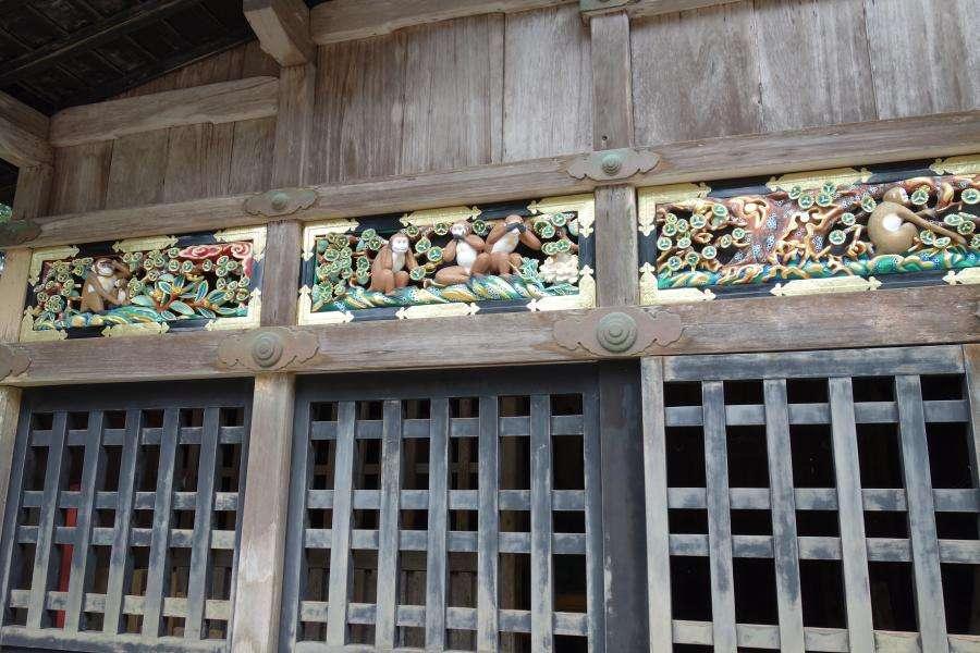 Nikko Tosho-gu santuario le tre scimmiette