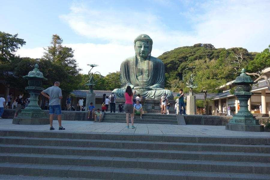 Buddha seduto tempio buddista Kamakura