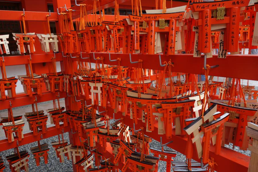 Ema nei santuaria shintoisti a Inari