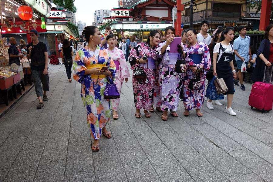 Nakamise Dori a Senso-ji Tokyo