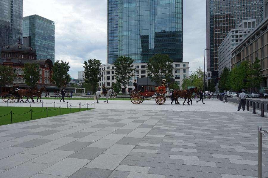 Tokyo piazzale della stazione centrale